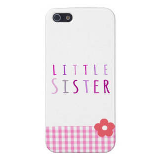Little sister in pink iPhone 5 cover