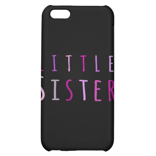 Little sister in pink iPhone 5C cover