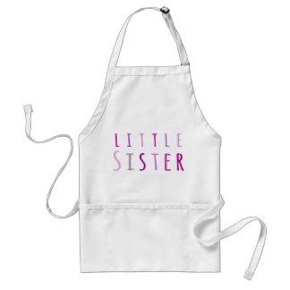 Little sister in pink standard apron