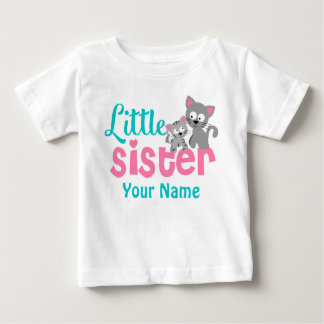 Little Sister Kitty Cat Personalized Shirt