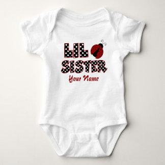 Little Sister Ladybug Personalized T-shirt