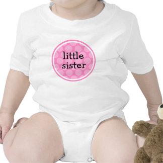 Little Sister Pink Polka Dot Circle T-shirt