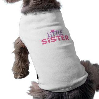Little Sister Princess Crown Sleeveless Dog Shirt