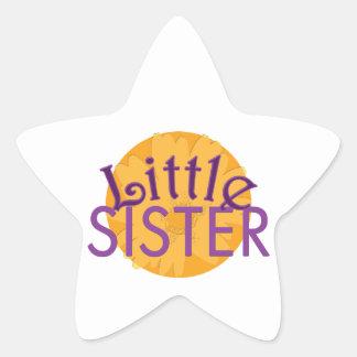 Little Sister Purple Orange Sticker
