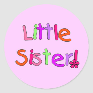 Little Sister T-shirts and Gifts Classic Round Sticker