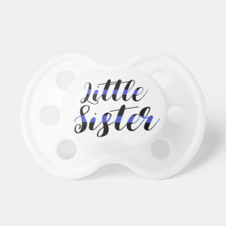 Little Sister Thin Blue Line Baby Pacifier police