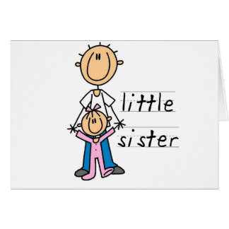 Little Sister with Big Brother T-shirts and Gifts Card