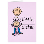 Little Sister with Big Brother T-shirts and Gifts Greeting Cards