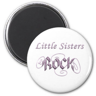 Little Sisters Rock 6 Cm Round Magnet