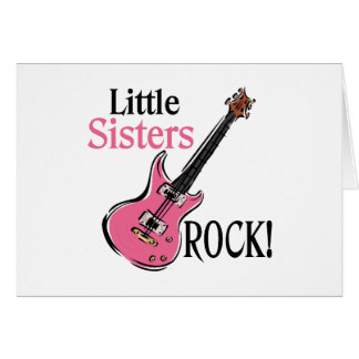 Little Sisters Rock Greeting Card