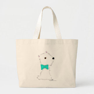 Little Sitting Westie Large Tote Bag