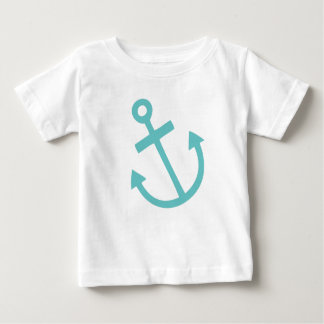 Little Skipper Nautical Anchor Baby T-Shirt