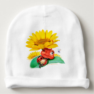 Little snoozy Ladybug baby hat Baby Beanie