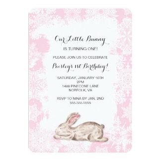 Little Snow Bunny Winter Birthday Party Invite