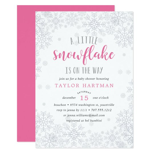 Snowflake baby shower invitations selol ink snowflake baby shower invitations filmwisefo
