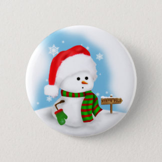Little Snowman Button
