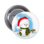 Little Snowman Button