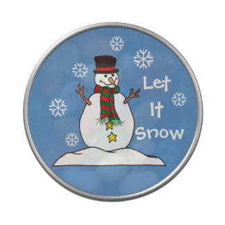 "Little Snowman ""Let It Snow"" - Candy Jelly Belly Candy Tin"