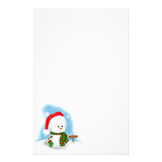 Little Snowman Stationery