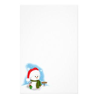 Little Snowman Stationery