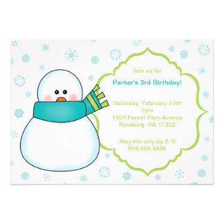 Little Snowman Winter Birthday Party Invite