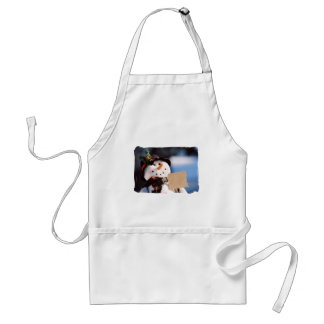 Little Snowman With Customizable Sign Aprons
