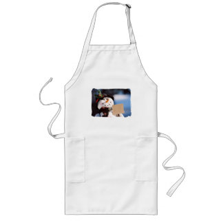 Little Snowman With Customizable Sign Apron