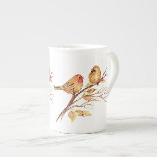 Little Sparrow Birds, Bone China Mug