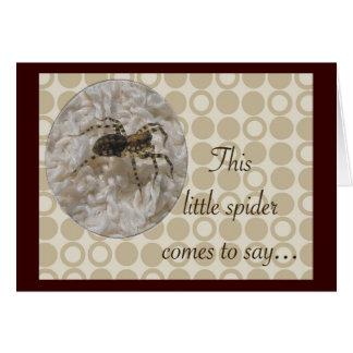 Little Spider Birthday Card