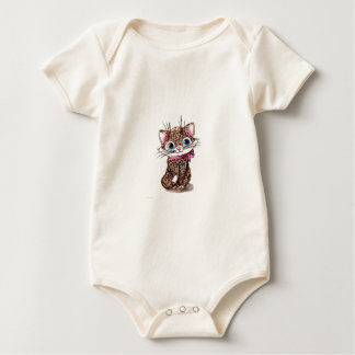 Little spotted kitten baby bodysuit