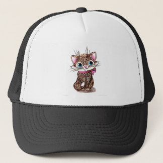 Little spotted kitten trucker hat