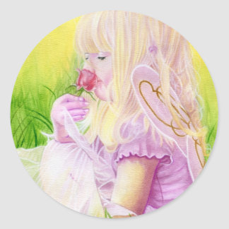 Little Spring Fairy Rose Sticker
