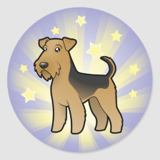Little Star Airedale Terrier / Welsh Terrier Classic Round Sticker