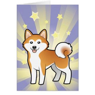 Little Star Akita Inu / Shiba Inu Card