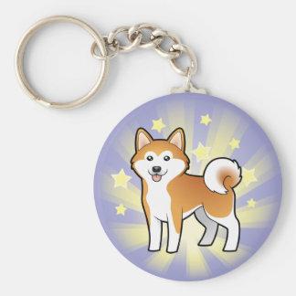 Little Star Akita Inu / Shiba Inu Key Ring