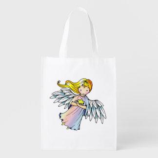 Little Star Angel Fantasy Illustration Reusable Grocery Bag