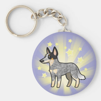 Little Star Australian Cattle Dog / Kelpie Basic Round Button Key Ring