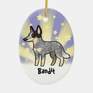 Little Star Australian Cattle Dog / Kelpie Ceramic Oval Decoration