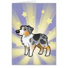 Little Star Australian Shepherd Card