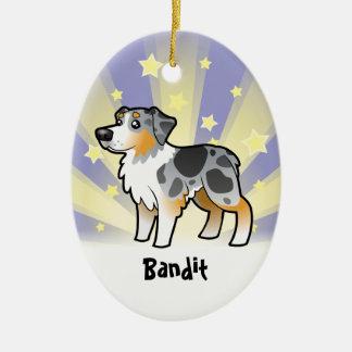 Little Star Australian Shepherd Christmas Ornament