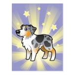 Little Star Australian Shepherd Postcard
