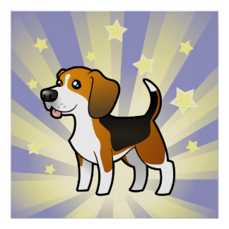 Little Star Beagle Poster