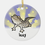 Little Star Bearded Dragon / Rankins Dragon Round Ceramic Decoration