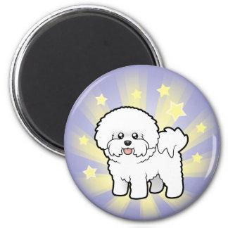 Little Star Bichon Frise 6 Cm Round Magnet