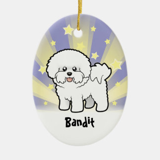 Little Star Bichon Frise Christmas Ornament