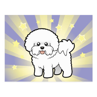 Little Star Bichon Frise Postcard