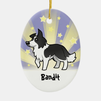 Little Star Border Collie (add your pets name) Christmas Ornament
