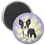 Little Star Boston Terrier 6 Cm Round Magnet