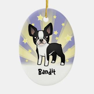 Little Star Boston Terrier Christmas Ornament