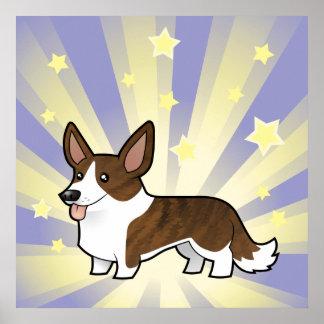Little Star Cardigan Welsh Corgi Poster